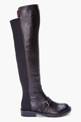 Marc by Marc Jacobs Black Over The Knee Nappa Boots