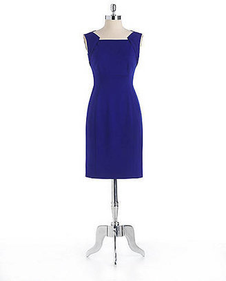 Elie Tahari Evette Fold-Detail Sheath Dress