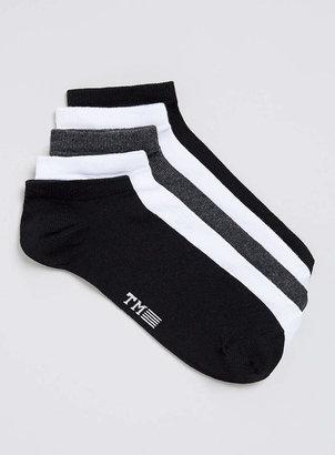 Topman White/Black/Grey Liner socks 5pack