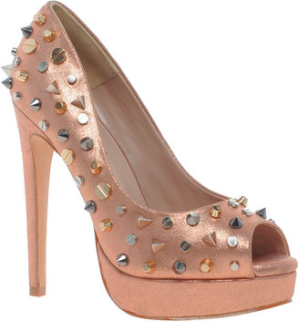 Carvela Genie Studded Metallic Platform Shoes