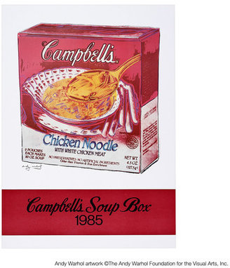 Andy Warhol The Foundation Campbell's Soup Box 1985
