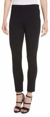 St. John Collection Alexa Knit Slim-Leg Ankle Pants, Caviar $395 thestylecure.com