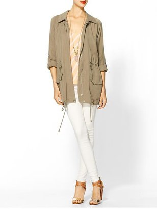 Juicy Couture Hive & Honey Brushed Twill Anorak