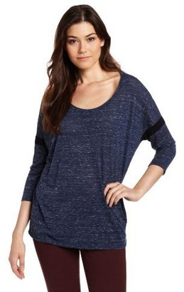 Michael Stars Women's Williamsburg Knit 3/4 Sleeve Scoop Neck Dolman Shirt