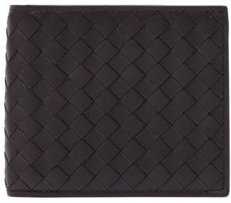 Bottega Veneta Bi Fold Intrecciato Leather Wallet - Mens - Brown