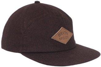 Brixton Men's Wharf Leather Strap Back Cap