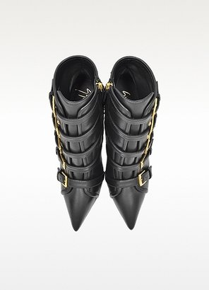 Giuseppe Zanotti Yvette Jeti Black Leather Ankle Boot