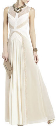 BCBGMAXAZRIA Avi Pleated Gown