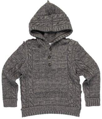 Dolce & Gabbana Knitting w/ Hood (Toddler/Little Kids/Big Kids) (Grey) - Apparel