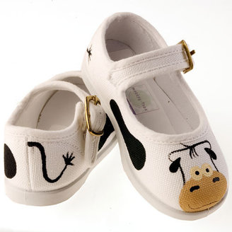 Cow Polka Mary Janes