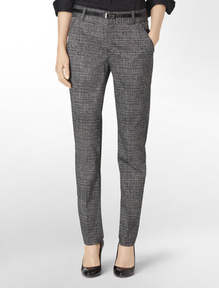 Calvin Klein Favorite Fit Retro Crosshatch Skinny Pants