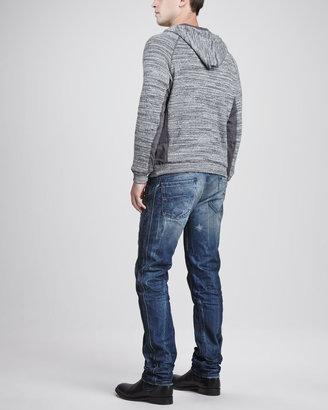 Diesel Darron Dirty Indigo Distressed Jeans
