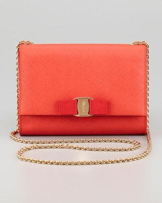 Salvatore Ferragamo Vara Chain Clutch Bag, Lava Coral