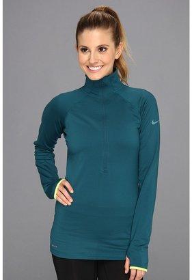 Nike Pro Hyperwarm 1/2 Tipped Zip Women's Long Sleeve Pullover