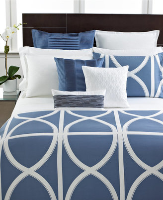 Hotel Collection CLOSEOUT! Transom Blue Twin Duvet Cover