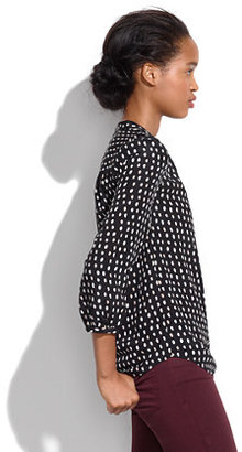 Madewell Silk Poet Blouse in Paintdot