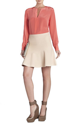 BCBGMAXAZRIA Carolyn Long-Sleeve Silk Top
