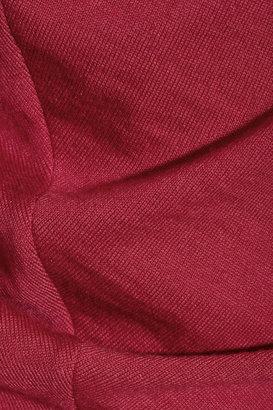 Alexander McQueen Draped wool-jersey dress