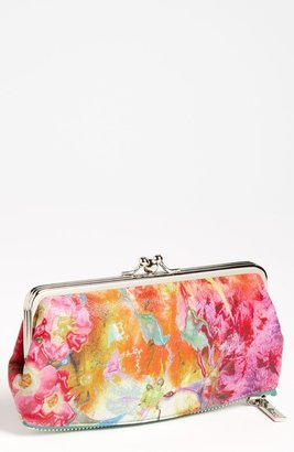 Hobo 'Vintage Millie' Kisslock Clutch Wallet Painted Floral One Size