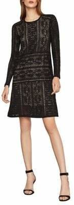 BCBGMAXAZRIA Waving Vines Lace Shift Dress
