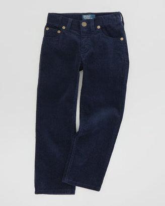 Ralph Lauren Fine-Wale 5-Pocket Corduroy Pants, Newport Navy, Sizes 4-7