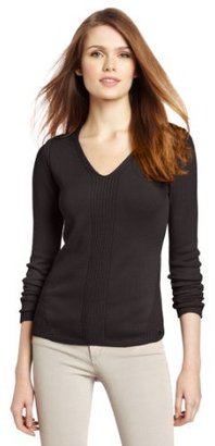 Calvin Klein Women's MSY Rib V-Neck Pullover Sweater