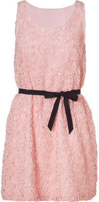 Moschino Cheap & Chic Pink Belted A-Line Dress