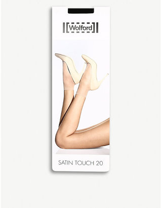 Wolford Women's Black Satin Touch 20 Socks, Size: M