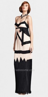 Mignon Pleated Two-tone Geometric Evening Dresses