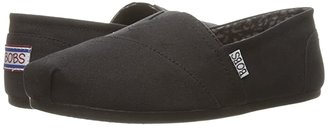 BOBS from SKECHERS Bobs Plush - Peace and Love (Black) Women's Shoes