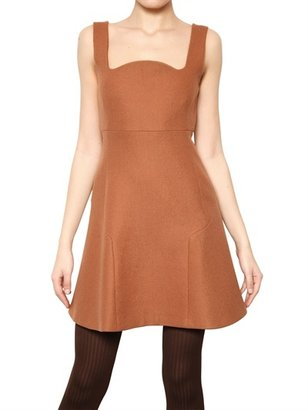 Au Jour Le Jour Wool Silk Crepe Dress