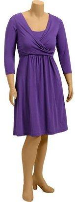 Old Navy Women's Plus Drape-Front Jersey Dresses