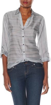 The Limited OBR Striped Layering Blouse