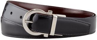 Salvatore Ferragamo 4-In-1 Reversible Gancini Belt, Black/Brown