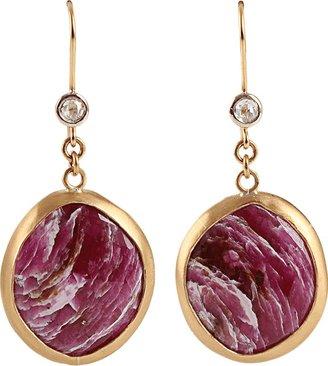 BOAZ KASHI Round Cut Sapphire Extreme Earrings