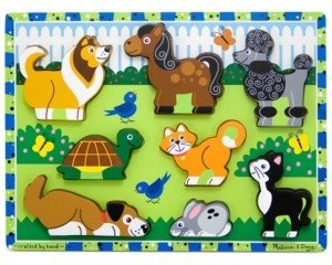 Melissa & Doug Kids Toy, Pets Chunky Puzzle