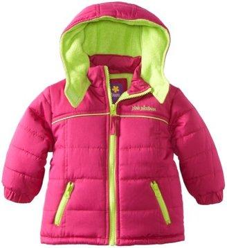 Pink Platinum Baby-Girls Infant Promo Puffer Contrast Lining Jacket
