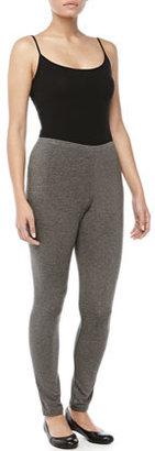 Donna Karan Heathered Jersey Leggings