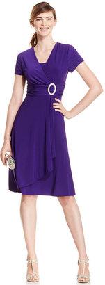 R&M Richards Short-Sleeve Faux-Wrap Dress $89 thestylecure.com