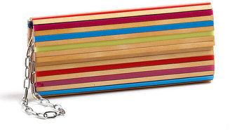 Sondra Roberts Faux-Wood Box Clutch