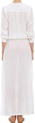 Theory Women's Cotton Voile Beach Maxi Dress-White