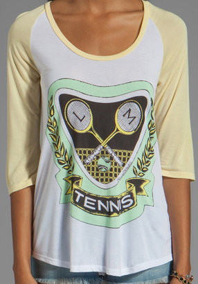 Lauren Moshi Frankie Green Color Tennis Baseball Tee