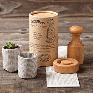 Williams-Sonoma Wooden Paper Pot Press