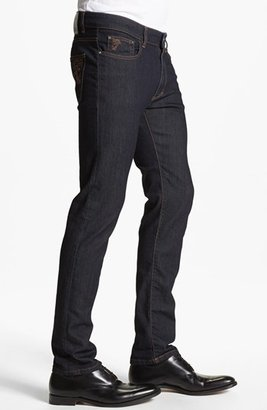 Versace 'Medusa' Slim Fit Jeans (Dark Navy)