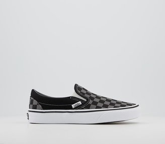 Vans Classic Slip On Trainers Black Pewter Check