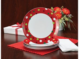 Rachael Ray 4-pc. Hoot's Decorated Tree Dinner Plate Set
