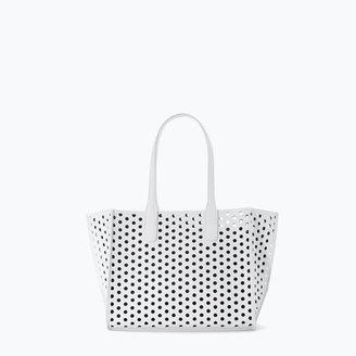 Zara Perforated Mini Shopper