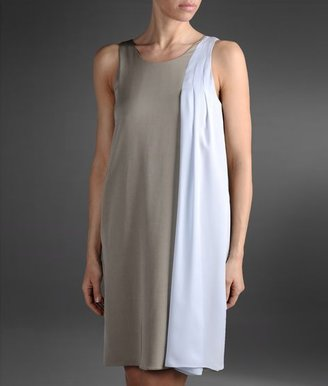 Emporio Armani Two-Color Viscose Dress With Low Back