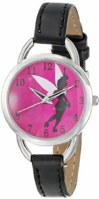 Disney Women's TK1036 Tinkerbell Hot Pink Sunray Dial Black Strap Watch $14.99 thestylecure.com