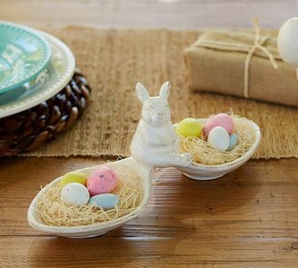 Pottery Barn Sculpted Bunny Snack Bowl
